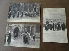 3 SUPERB HIGHEST QUALITY POSTCARDS George Davis Photographer Oxford COLLEGE 1910