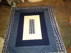 Side B of Fundraiser quilt - 6 Hour Quilt Pattern. I used a standard machine, not a serger.