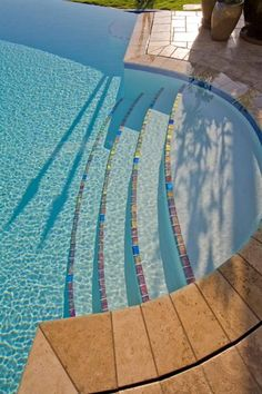 * Lightstreams Jewel Glass Accent Tile | Red River omg I so want to buy the open land next to my house n build this pool love it