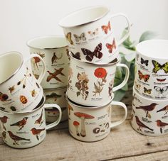 Ecology Mugs – Freckled Hen Farmhouse Cute Mugs, Pretty Mugs, Decoration, Tea Pots, Home Goods, Sweet Home, Room Decor, House Design, Cool Stuff