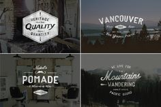 Vintage Hand Drawn Style Logos by Hustle Supply Co. on Creative Market