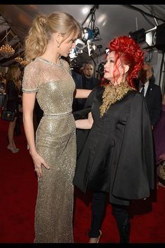 Taylor Swift and Cindy Lauper