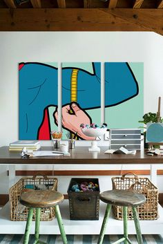 Super-Evaluation 3 Panel Sectional Wall Art