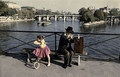 Pont des Arts, 1957. Photographer Peter Cornelius. #1950s #paris #citiesoldphoto