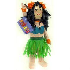 Buy luau hula dancer pinatas from Shindigs party shop. Hawaiian Luau Party, Hula Dancers, Party Shop, Disney Princess, Disney Characters, Disney Princesses, Disney Princes