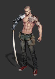ArtStation - Cyborg samurai, DOK .