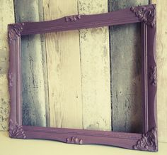 Open frame, empty frame, picture frame prop, photo prop frame, chalk painted frames, backless frame, baroque frame by AlysonsShabbyHome on Etsy