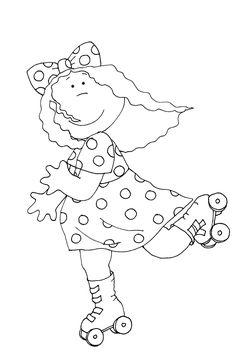 Dearie Dolls... free Dearie Dolls digi stamp of fall girl