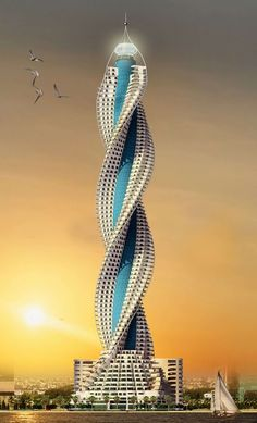 BeautifulWorld: Diamond Tower Jeddah Location: Diamond Tower, Jeddah, Saudi Arabia Completion Date: 2017 A striking twisting design with a diamond shape top, it is nothing but architectural excellence. Unusual Buildings, Famous Buildings, Interesting Buildings, Amazing Buildings, Modern Buildings, Unusual Houses, Plans Architecture, Futuristic Architecture, Beautiful Architecture