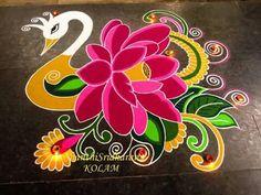 Rangoli Rangoli Designs Latest, Rangoli Designs Flower, Rangoli Designs With Dots, Flower Rangoli, Beautiful Rangoli Designs, Kolam Designs, Mehandi Designs, Easy Diwali Rangoli, Diwali Craft