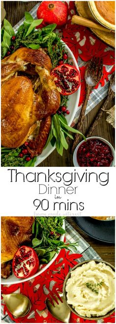 This delicious Thanksgiving dinner can be made in 90 minutes. Make Thanksgiving a little easier with a Thanksgiving dinner delivered straight to your front door! Thanksgiving side dishes, a beautiful golden brown, moist turkey, and pumpkin and apple pie make this Thanksgiving meal kit the easy way to host Thanksgiving! via @hmiblog