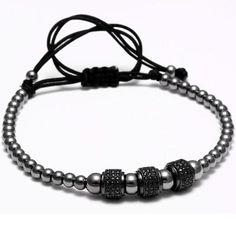 Black Titanium Steel Beads bracelet