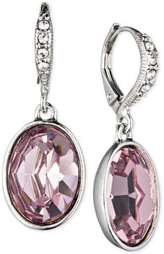 Givenchy Rhodium-Tone Small Oval Drop Earrings on shopstyle.com