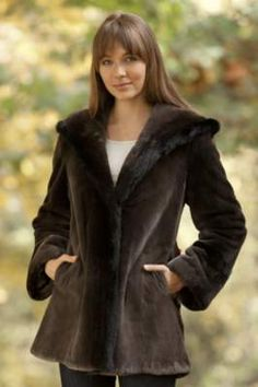 Women's Tatiana Sheared Beaver Fur Coat with Mink Fur Trim By Overland Sheepskin Co, http://www.overland.com/Products/NewNotable-590/MadeintheUSACanada-697/MadeintheUSAWomensCoats-547/WomensTatianaShearedBeaverFurCoatwithMinkFurTrim/PID-17760.aspx