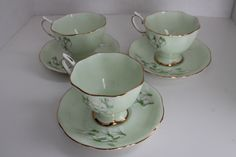 Royal Albert Snowdrop Cups and Saucers