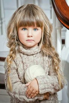 pretty little girl with tawny blonde hair