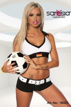 Fussball Trikot-Set Deutschland für die EM 2016 ein heißes Outfit für Damen & Girls.