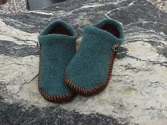 Not a fan of double points? or just looking for a super fast project? Need a gift in a day's notice? This pattern is for you! These slippers are not knit in the traditional sock or slipper manner - simply knit flat, folded and stitched, it couldn't be any easier! Make 2 color, 3 color, striped, whatever your hearts desire. Felting instructions included AND I'll tell you my top-secret way of making a non-slip sole (shhh!). Knit with a regular set of #9 knitting needles and worsted weight wool…