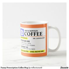 What I love about this funny prescription coffee mug is that it can be personalized for the coffee lover! What a great gift that can be used as their favorite coffee cup or for filling with pens and pencils.  This would also look really nice tucked in a gift basket!