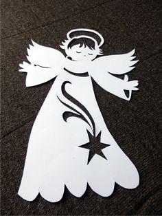 angel engel scherenschnitt