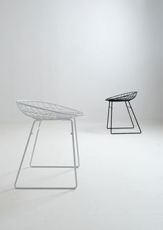 Cees Braakman and Adriaan Dekker; Enameled Metal Stools by Tomado for Pastoe, 1950s.