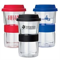 Double Wall Glass Tumbler   12 oz. double wall borosilicate glass tumbler with silicone sipper lid and comfort sleeve. http://www.logotoyou.com/12-oz-Double-Wall-Glass-Tumbler-p/km3800.htm  #GlassTumbler