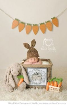 Easter Photo Session Ideas - Newborn Portrait Session by Lisa Shields Photography - Featured on iHeartFaces.com