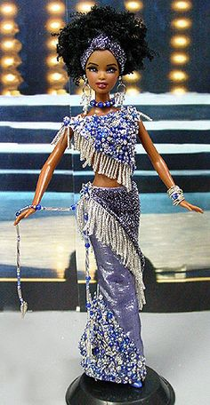 OOAK Barbie NiniMomo's Miss Uganda 2011