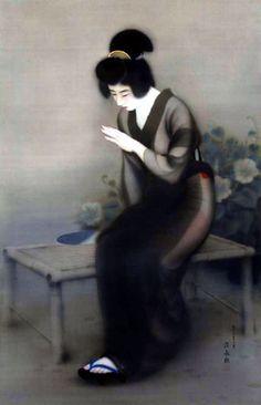 Finger by Itō Shinsui Japanese Artwork, Japanese Prints, Japanese Painting, Oriental, Print Artist, Woodblock Print, Manga, Erotic Art, Traditional Art