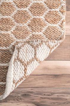 MontereyHS01 Hand Woven Jute Reversible Honeycomb Rug