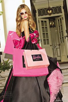 barbie bridal 2014 wedding dress luxurious barbie collection bb0126 black pink