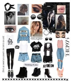 """""""// how do i punk rock //"""" by gunsmke ❤ liked on Polyvore featuring Lush Clothing, Club L, Yummie by Heather Thomson, Ballet Beautiful, Chanel, Chicnova Fashion, Converse, Boohoo, Topshop and Urban Decay"""