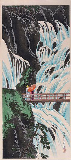 Takahashi Shotei - Shirakumo Waterfall