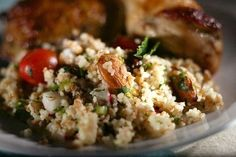 ... bulgur wheat, radishes, parsley, green onions, raisins, tomatoes
