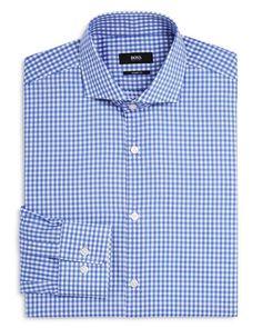 Boss Mark Woven Gingham Check Sharp Fit Dress Shirt