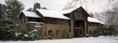 The Bucklin Memorial Building in winter at Camp #Yawgoog.  A Facebook cover photo by David R. Brierley.