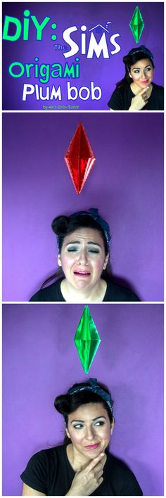 DIY photo booth The Sims plum bob  last minute halloween costume