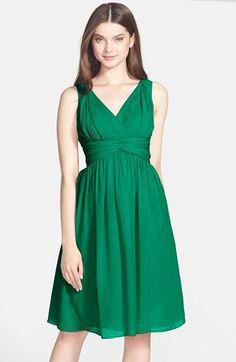 Donna Morgan 'Jessie' Twist Waist Chiffon Dress | Nordstrom