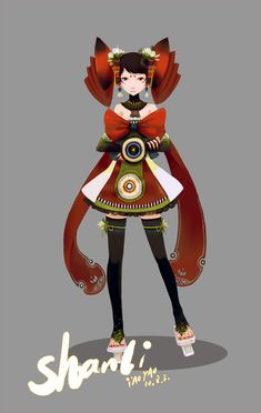 Beautiful character design ! SHANLI 2 by yao yao, via Behance