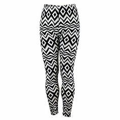 Wild Geometric Print Leggings Black and White $9.99 Print Leggings, Black Leggings, Pajama Pants, Black And White, Spring, Fashion, Printed Leggings, Moda, Sleep Pants
