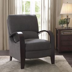 High-legged recliners save space and provide the comfort of larger recliners that tend to hog up space.