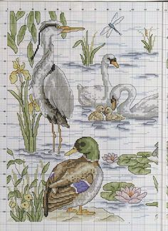 """Photo from album """"Cross Stitch Collection 137 on Yandex. Just Cross Stitch, Cross Stitch Animals, Cross Stitch Flowers, Cross Stitch Charts, Cross Stitch Designs, Cross Stitch Patterns, Cross Stitching, Cross Stitch Embroidery, Embroidery Patterns"""
