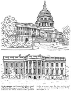 Historic American Landmarks US CAPITOL BUILDING AND THE WHITE HOUSE - HOME O F THE PRESIDENT Welcome to Dover Publications