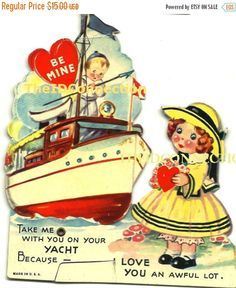 """Image result for """"I go for you A from to Z"""" vintage Valentine card"""