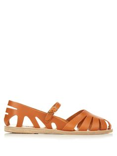 Apollonia cut-out leather sandals | Ancient Greek Sandals | MATCHESFASHION.COM…