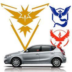 "New 3.5"" Pokemon Go Team Valor Mystic Instinct Car Window Vinyl Decal Sticker"