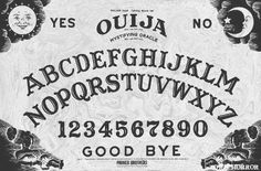 Ouija board picture for DIYs