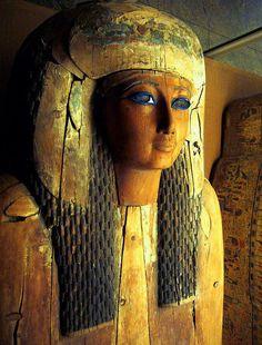 Dynasty 26 (664-525 B.C.) Painted wood Metropolitan Museum of Art NYC