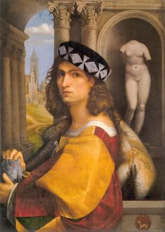 Male portrait (self-portrait ?) by Domenico Capriolo (1512?, Hermitage) - Domenico Caprioli - Wikipedia