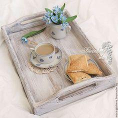 Кухня ручной работы. Ярмарка Мастеров - ручная работа. Купить Поднос деревянный Shabby chic. Handmade. Поднос, поднос из дерева